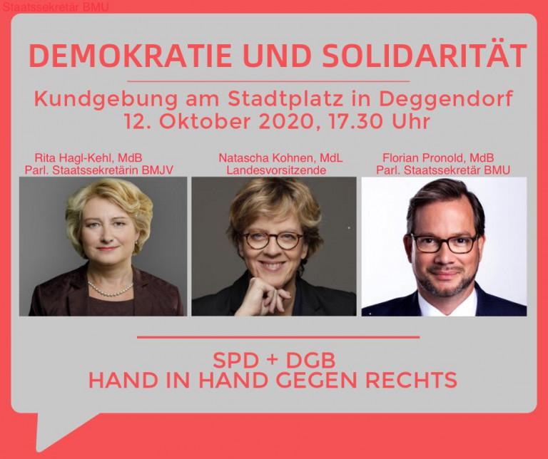 Kundgebung Demokratie und Solidarität